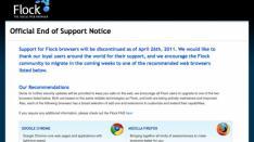 Social browser Flock stopt op 26 april