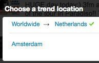 Twitter Trends nu op 70 extra locaties
