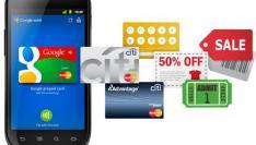 Mobiele telefoon wordt een Google Portemonnee