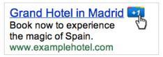 Google's +1 knop ook op Adwords